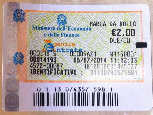 Marca da bollo da 2 euro: quando e dove si applica?