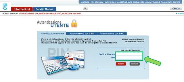 Richiesta del pin inps online come fare for Inps on line accedi ai servizi